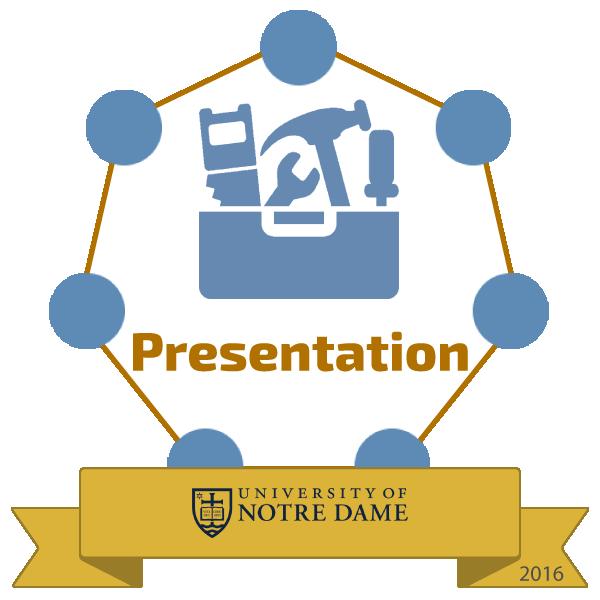 presentation badge image