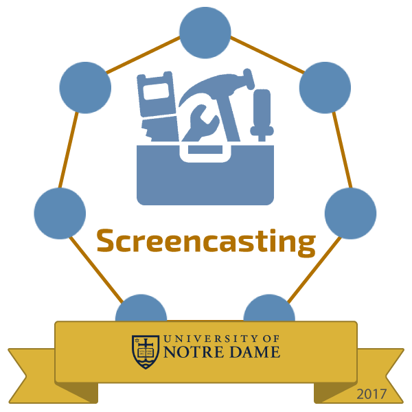 screencasting badge image